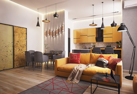 Интересные дизайнерские идеи по оформлению интерьера квартиры-студии